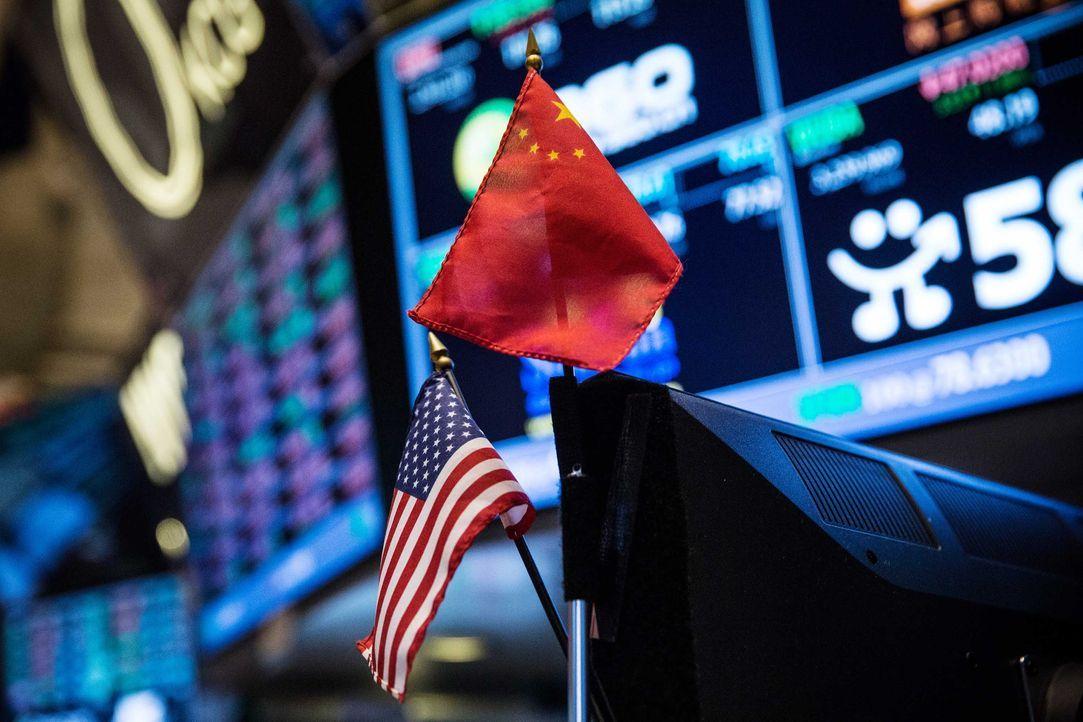 chinesische-amerikanische-flagge-computer-getty-AFP - Bildquelle: getty-AFP