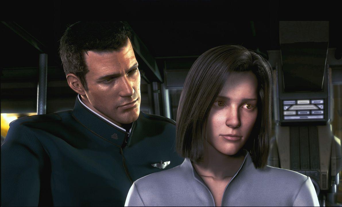 Die Suche nach den lebensrettenden zwei Spirits gestaltet sich für Dr. Aki Ross (r.) und Captain Gray Edwards (l.) überaus schwierig ... - Bildquelle: 2003 Sony Pictures Television International. All Rights Reserved.