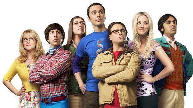 "Die Besetzung der Serie ""The Big Bang Theory"": v.l. Melissa Rauch,..."