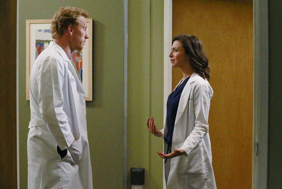 Ein Streit zwischen Owen (Kevin McKidd, l.) und Amelia (Caterina Scorsone, r.) wirkt sich auf die Arbeitssituation von Stephanie aus ... - Bildquelle: ABC Studios