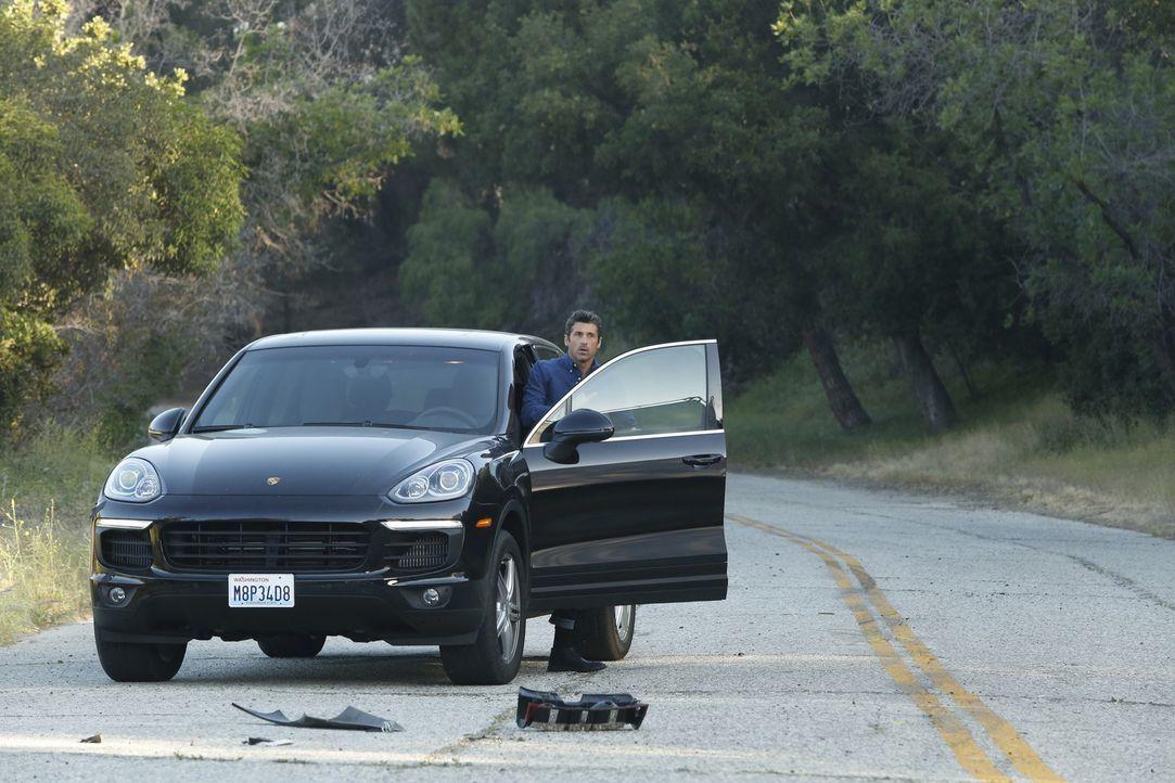 Wird Zeuge eines schrecklichen Autounfall: Derek (Patrick Dempsey) ... - Bildquelle: ABC Studios