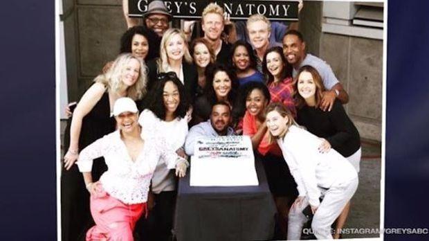 Gruppenfoto vieler Grey's Anatomy Schauspieler