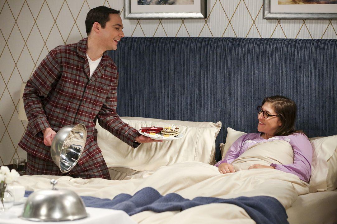 Sheldon (Jim Parsons, l.); Amy (Mayim Bialik, r.) - Bildquelle: Warner Bros. Television