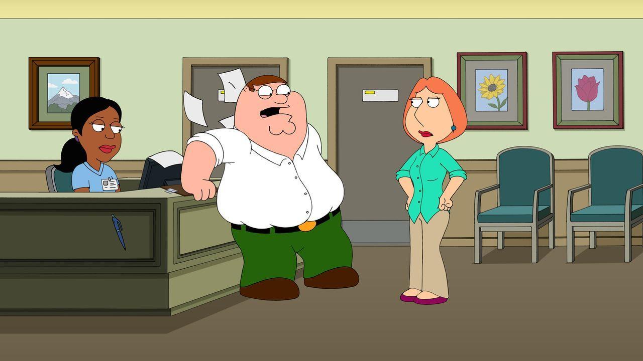 Als durch Lois' (r.) Telefonstreich Peters (M.) Vergangenheit als Samenspender zutage kommt, ist Lois zunächst schockiert, überredet ihn dann jedoch... - Bildquelle: 2016-2017 Fox and its related entities.  All rights reserved.