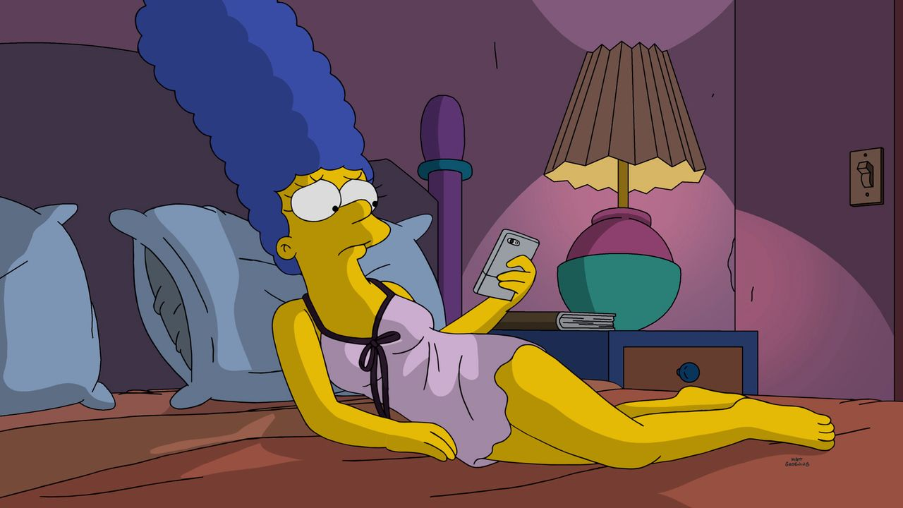 Die Ehe von Marge (Foto) und ihrem Ehemann Homer geht immer mehr bergab, sie ahnt nicht, dass Mr. Burns und Nigel eine Wette abgeschlossen haben, di... - Bildquelle: 2016-2017 Fox and its related entities. All rights reserved.