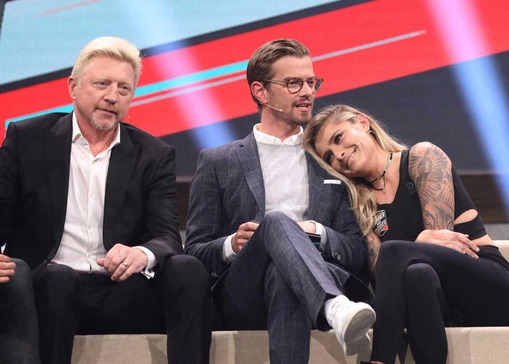 Boris Becker, Joko Winterscheidt, Sophia Tomalla  - Bildquelle: ProSieben/Jens Hartmann