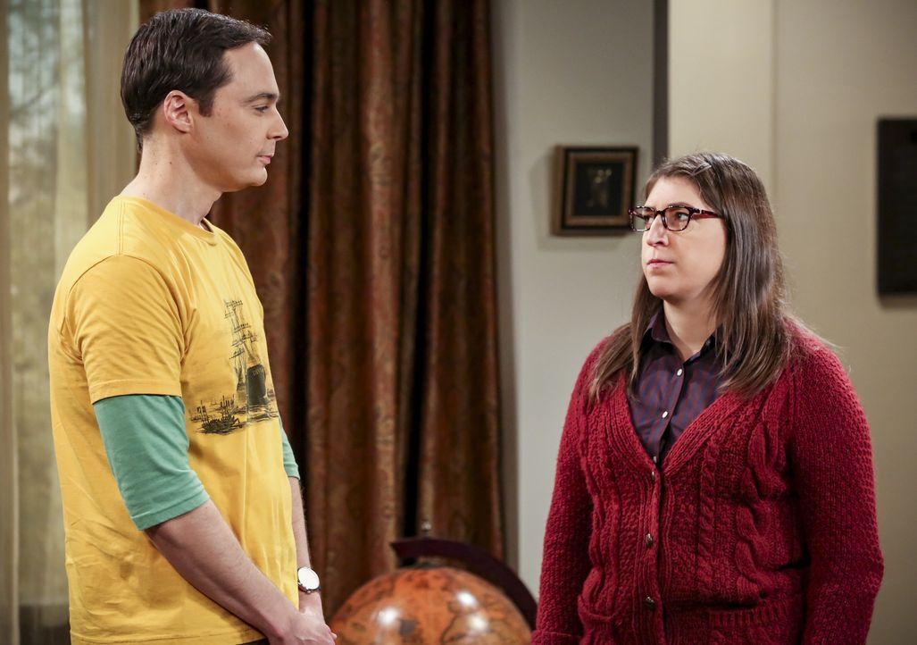 Sheldon (Jim Parsons, l.); Amy (Mayim Bialik, r.) - Bildquelle: Michael Yarish Warner Bros./Michael Yarish