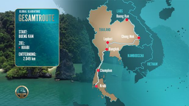 Global Gladiators 2018 - Thailand Route