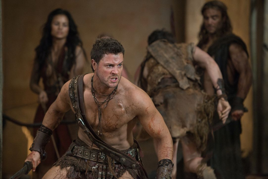 Auf in den Kampf! Agron (Daniel Feuerriegel) ... - Bildquelle: 2011 Starz Entertainment, LLC. All rights reserved.