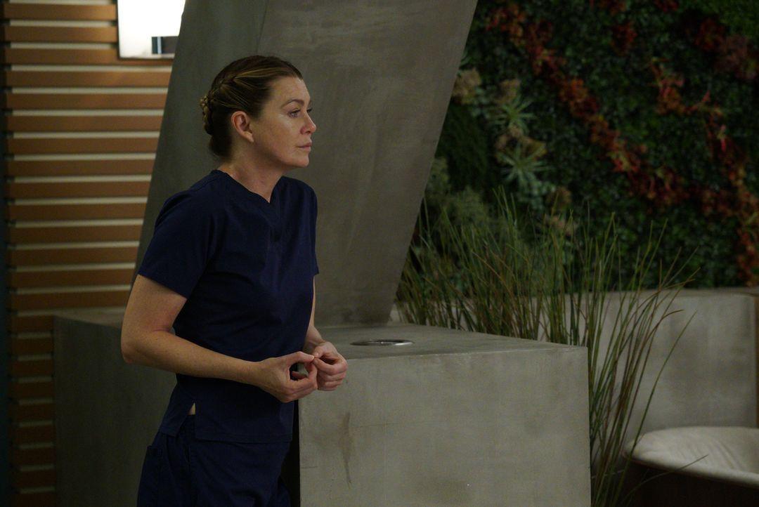 Meredith (Ellen Pompeo) macht Dr. Paul Stadler klar, auf wessen Seite sie steht. Unterdessen kämpfen Jackson und Maggie um das Leben ihres Patienten... - Bildquelle: Richard Cartwright 2017 American Broadcasting Companies, Inc. All rights reserved.