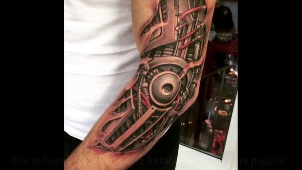 Tattoo Trend Biomechanik Motive Und Ideen