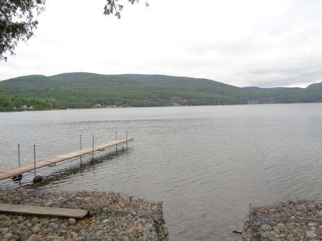 Der Lake Champlain, New York, ist vor allem wegen seiner Landschaft und den v...