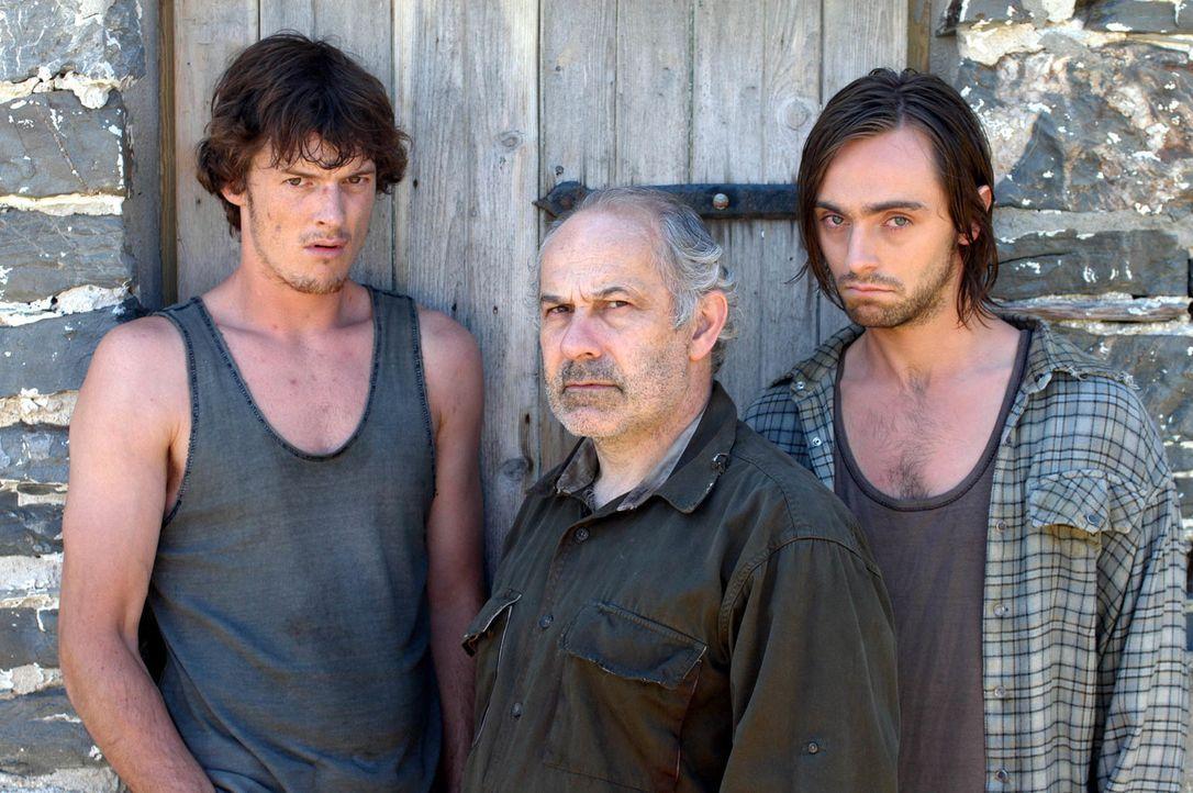 Irgendetwas scheint mit den Flints, (v.l.n.r.) Paddy (Del Synnott), Victor (Nick Woodeson) und Wallace (David Dawson), nicht zu stimmen. Warum lasse... - Bildquelle: BUFFALO PICTURES/ITV