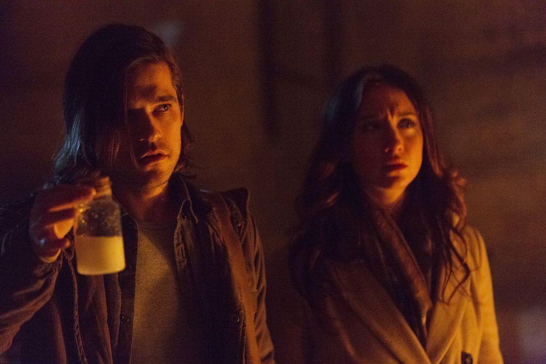 In Fillory bekommt Quentin (Jason Ralph, l.) den Ratschlag, besonders gut auf Julia (Stella Maeve, r.) aufzupassen, aber kann er sie tatsächlich bes... - Bildquelle: 2015 Syfy Media Productions LLC. ALL RIGHTS RESERVED.