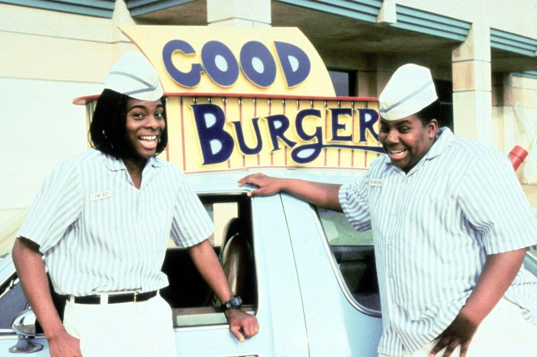 Fett im Burgergeschäft: Ed (Kel Mitchell, l.) und Dexter (Kenan Thompson, r.) ... - Bildquelle: Paramount Pictures