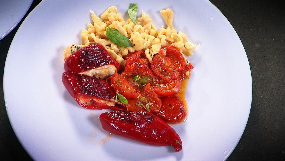 Gefüllte Paprika mit Eiernockerl