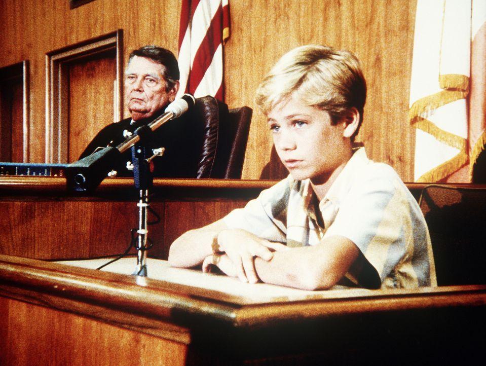 Scottie tauscht seine Rolle als potentieller Adoptivvater gegen die von Todds (Paul Walker, r.) Anwalt. Vor Gericht sagt Todd in eigener Sache aus. - Bildquelle: Worldvision Enterprises, Inc.