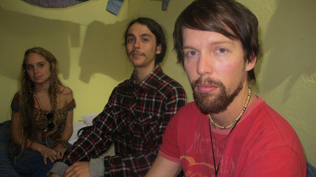 Tom Hanway (r.) aus Kalifornien ist auf dem Hippie-Trail nach Südamerika unte...
