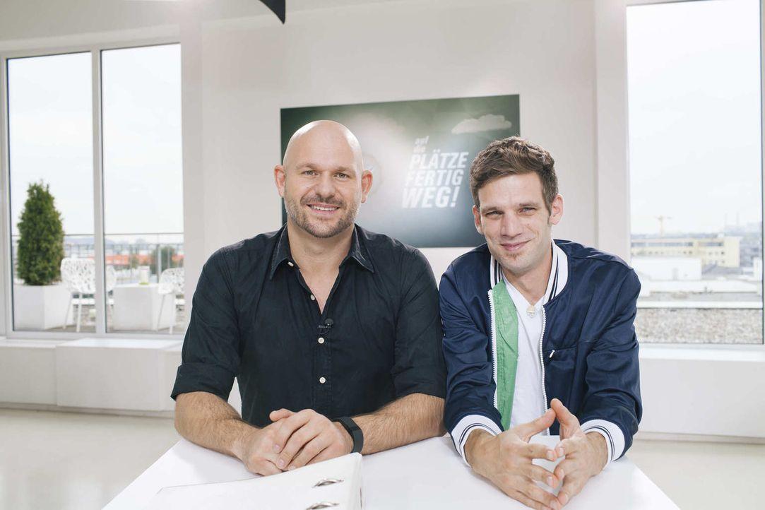 Werden Sven (l.) und Manuel (r.) es schaffen, die Jury von sich und ihrer Business-Idee zu überzeugen? - Bildquelle: Stefan Hobmaier kabel eins