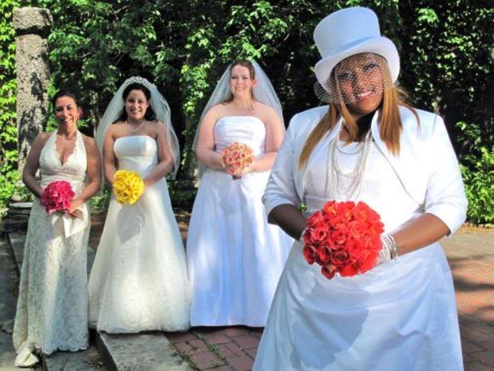 Vier Bräute treten an, im Wettkampf um das schönste Hochzeitsfest: Amanda (2.v.r.), Nora (l.), Jeanette (2.v.l.) und und Brooke (r.) - Bildquelle: 2009 Discovery Communications, LLC