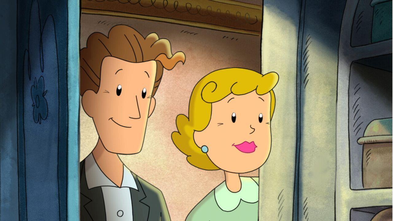 Werden sie ihrer Ehe noch eine Chance geben? Luiselotte Körner (r.) und Ludwig Palfy (l.) ... - Bildquelle: Warner Brothers International Television Distribution Inc.