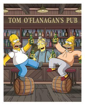 Die Simpsons - Homer (l.) erfüllt seinem Vater (r.) den sehnlichen Wunsch, no...