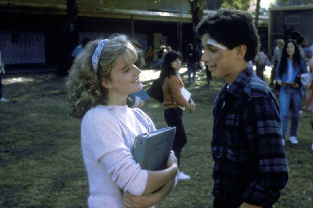 Liebe auf den ersten Blick: Daniel (Ralph Macchio, r.) lernt die hübsche Ali (Elisabeth Shue, l.) kennen ... - Bildquelle: Columbia Pictures