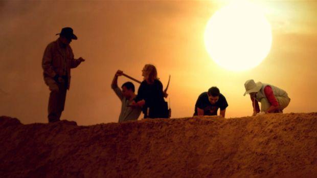 Laut der Bibel zerstörte Gott die Städte der Sünde Sodom und Gomorrha in eine...