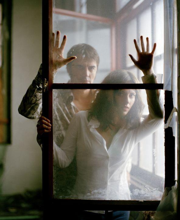 Als sich der FBI-Agent Mike Tozzi (Chris Not, hinten) in die Schwester seines Informanten, Gina (Dagmara Dominczyk), verknallt, lässt dieser ihn auf... - Bildquelle: CBS International Television