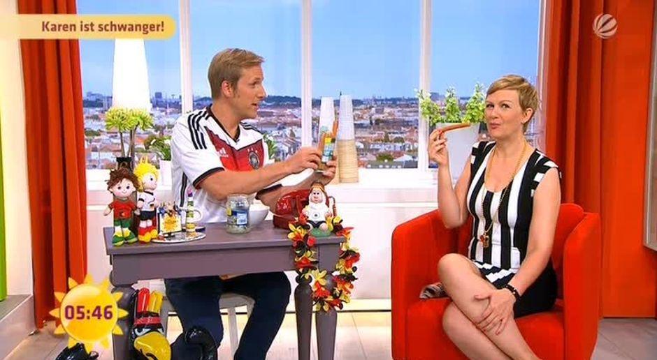 Frühstücksfernsehen Video Karen Ist Schwanger Sat1