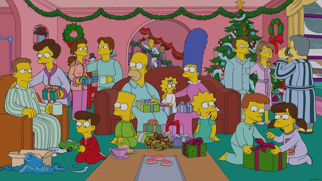 Ob es wirklich eine so gute Idee war, das Haus ausgerechnet am Weihnachtsabend mit zahlenden Übernachtungsgästen zu füllen? Die Simpsons - Bart (vor... - Bildquelle: 2013 Twentieth Century Fox Film Corporation. All rights reserved.