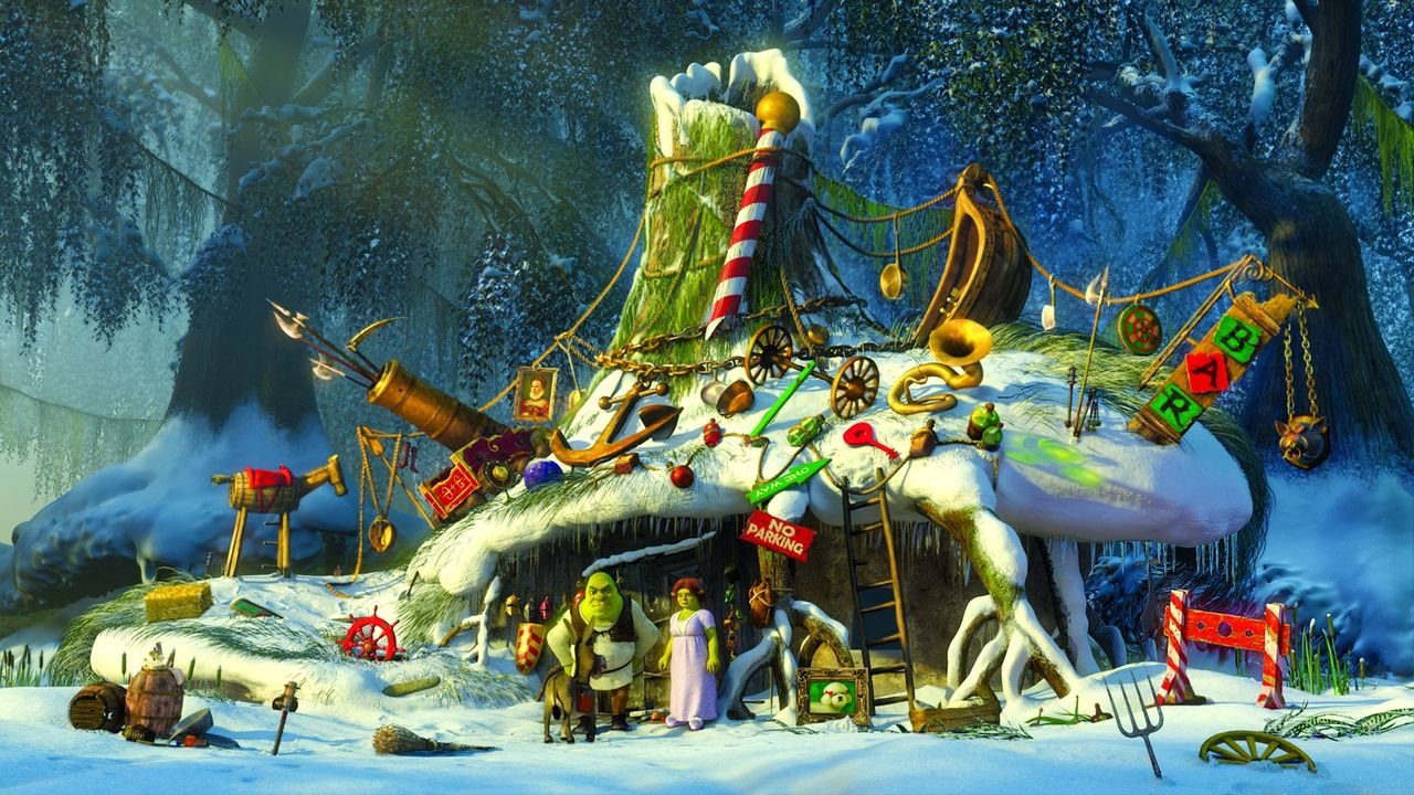 Für seine Frau und die Kinder beginnt sich der tollkühne Held Shrek in den totalen Weihnachtsstress ... - Bildquelle: 2007   DreamWorks Animation LLC. All rights reserved.