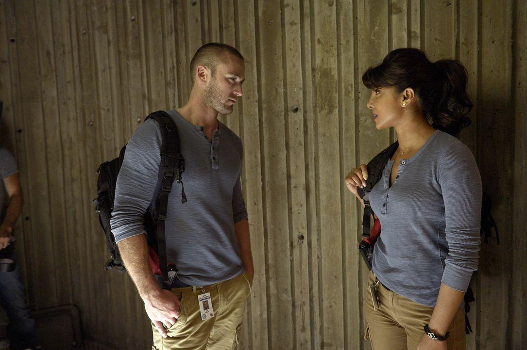 Neue Techniken müssen Alex (Priyanka Chopra, r.), Ryan (Jake McLaughlin, l.) und die anderen Rekruten erlernen, um die gegenseitigen Stärken und Sch... - Bildquelle: 2015 ABC Studios