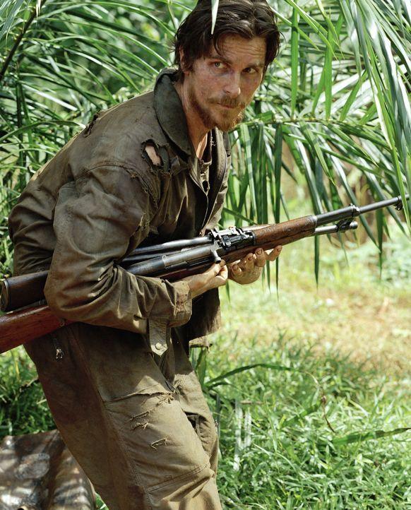 Nach seiner Flucht muss der amerikanische Soldat Dieter Dengler (Christian Bale) erkennen, dass der Dschungel kein Erbarmen zeigt ... - Bildquelle: Lena Herzog 2006 Top Gun Productions, LLC. All Rights Reserved.