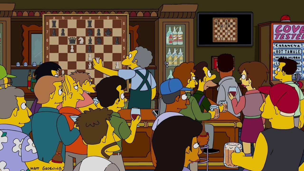 Ganz Springfield ist im Schachfieber, doch niemand ahnt, wer sich als Schachprofi herausstellen wird ... - Bildquelle: 2016-2017 Fox and its related entities. All rights reserved.