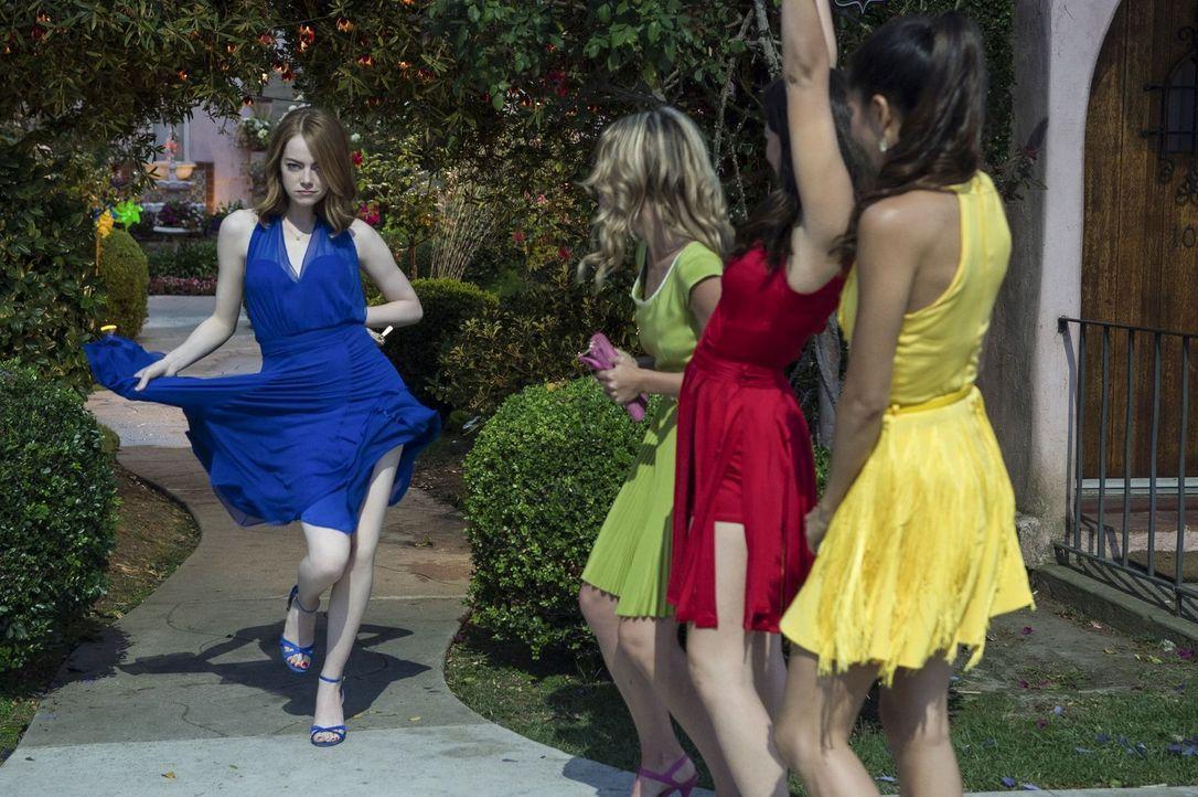 (v.l.n.r.) Mia (Emma Stone); Alexis (Jessica Rothe); Tracy (Callie Hernandez); Caitlin (Sonoya Mizuno) - Bildquelle: Dale Robinette 2016 Summit Entertainment, LLC. All Rights Reserved./ Dale Robinette