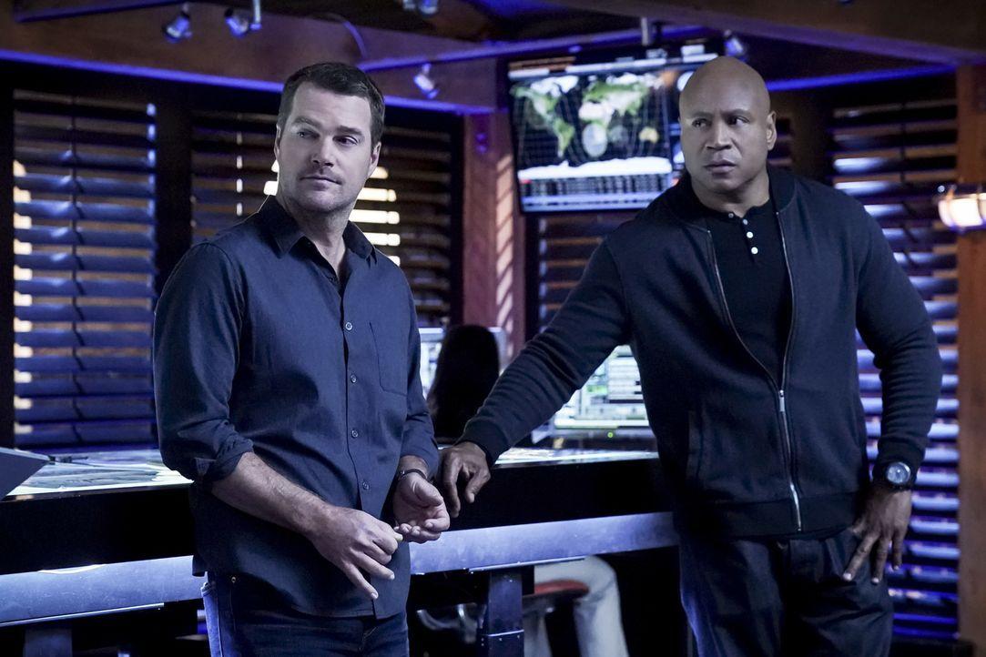 G. Callen (Chris O'Donnell, l.); Sam Hanna (LL Cool J, r.) - Bildquelle: Monty Brinton 2018 CBS Broadcasting, Inc. All Rights Reserved/Monty Brinton