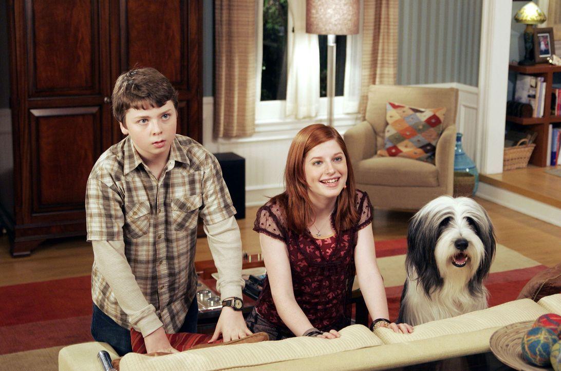 Nach einem Hundebiss verwandelt sich Staranwalt Dave zeitweise in den Hund Shaggy und lernt dadurch seine Kinder Josh (Spencer Breslin, l.) und Carl... - Bildquelle: Disney Enterprises, Inc. All rights reserved