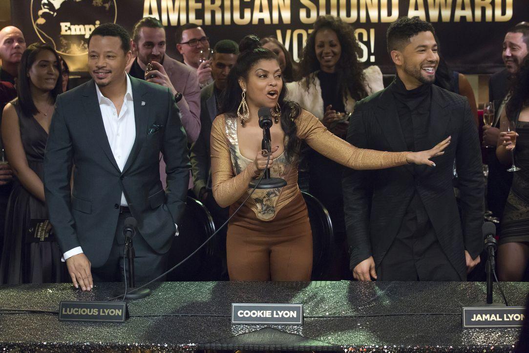 Sowohl Lucious (Terrence Howard, l.) als auch Jamal (Jussie Smollett, r.) sind für den ASA Award nominiert. Bei einer Pressekonferenz mit Cookie (Ta... - Bildquelle: Chuck Hodes 2015-2016 Fox and its related entities.  All rights reserved.