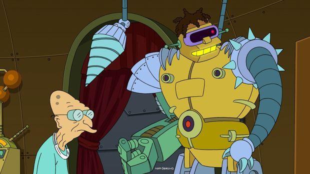 Hermes (r.) hat nach und nach maschinelle Teile in seinen Körper eingebaut, u...