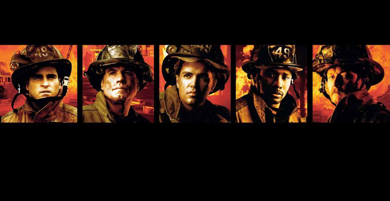 """Im Feuer"" mit Joaquin Phoenix, l., John Travolta, 2.v.l., Morris Chestnut, 2.v.r. und Robert Patrick, r. - Bildquelle: Buena Vista International.  All Rights Reserved"