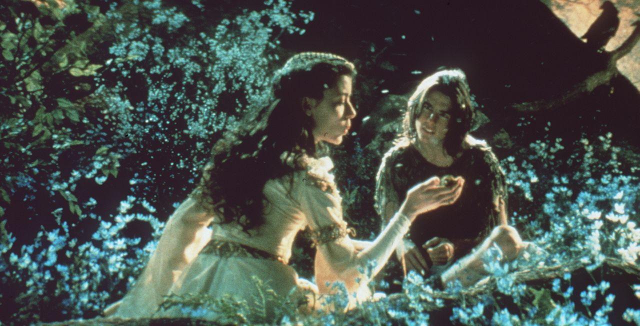 Als Jack (Tom Cruise, r.) seine Freundin Lili (Mia Sara, l.) zu dem geheimen Platz der Einhörner führt, werden sie von den hinterhältigen Dienern de... - Bildquelle: Universal Pictures