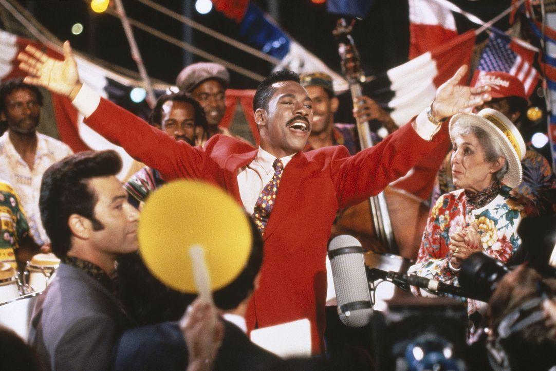 Als Senator Jeff Johnson bei einem Seitensprung das Zeitliche segnet, kandidiert der Gauner Thomas Jefferson Johnson (Eddie Murphy, M.) dreist an St... - Bildquelle: Buena Vista Pictures