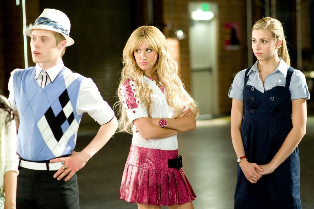 Intrigen sind ihr Leben: (v.l.n.r.) Ryan (Lucas Grabeel), Sharpay (Ashley Tisdale) und Tiara (Jemma McKenzie-Brown) ... - Bildquelle: Disney Enterprises, Inc.  All rights reserved.