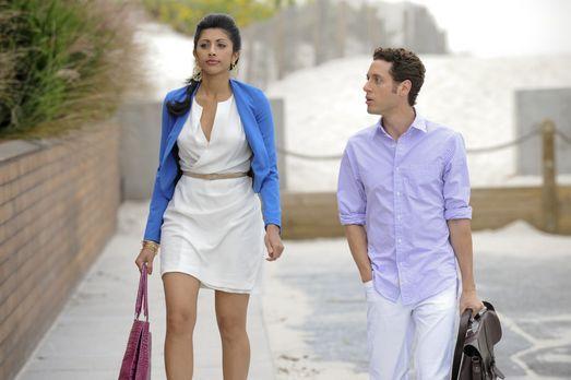 Divya (Reshma Shetty, l.) trifft eine Entscheidung, die nicht nur Evan (Paulo...