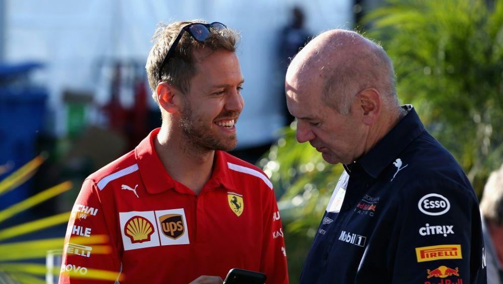 "Newey (r.) über Vettel: ""Spürt den Druck"" - Bildquelle: AFPGETTY SIDCHARLES COATES"