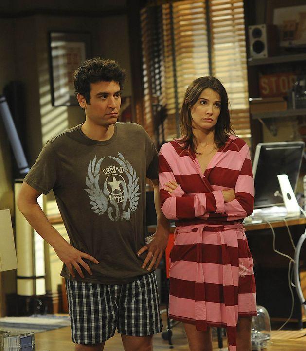 Seitdem Robin (Cobie Smulders, r.) zu ihm gezogen ist, hat Ted (Josh Radnor, l.) mit ihr zunehmend Konflikte wegen ihrer Schlampigkeit. Da sich beid... - Bildquelle: 20th Century Fox International Television