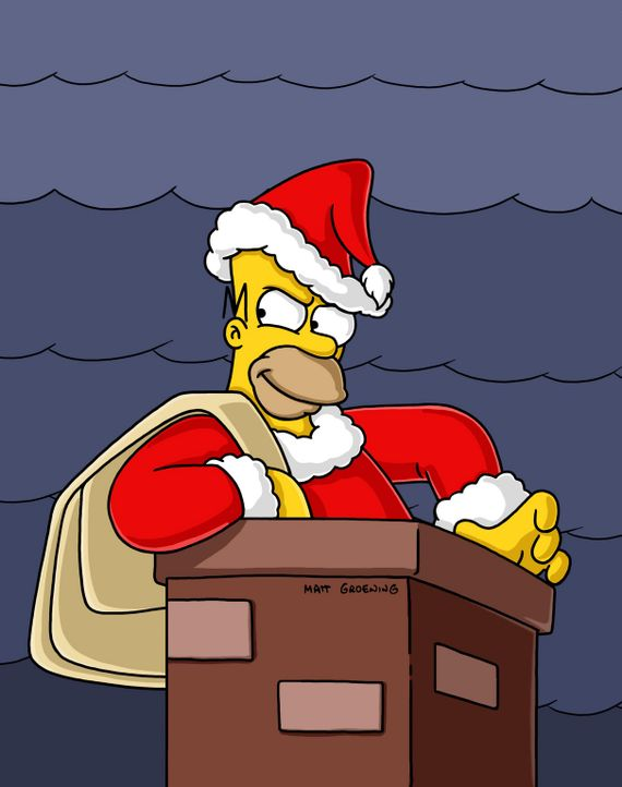 Als Homer im Fernsehen eine Weihnachtsgeschichte sieht, ist er zutiefst gerührt und beschließt, sein egoistisches Verhalten aufzugeben und ebenfal... - Bildquelle: und TM Twentieth Century Fox Film Corporation - Alle Rechte vorbehalten
