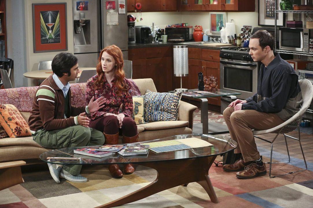 Nachdem Sheldon (Jim Parsons, r.), mit einer fiesen Erkältung kämpfend, seine Freunde wie Dreck behandelt hat, versucht er sich bei ihnen, mehr schl... - Bildquelle: 2015 Warner Brothers