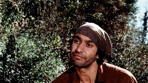 Zusammen mit seiner Familie hat sich der Zigeuner Volta (Gregory Sierra) im H...